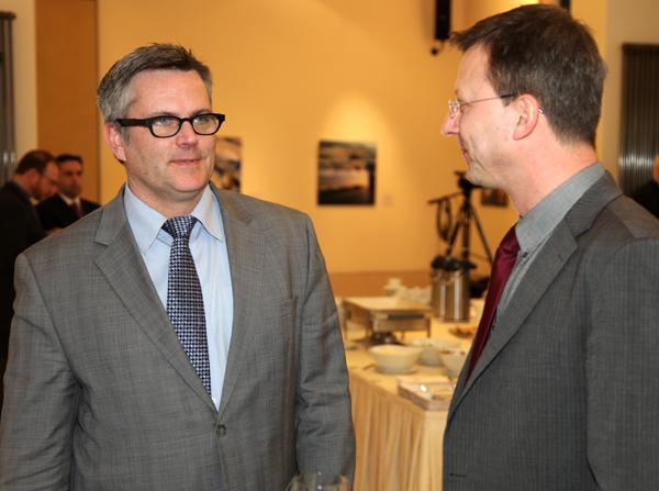 Portland Mayor Sam Adams with Dr. Benno Hain.